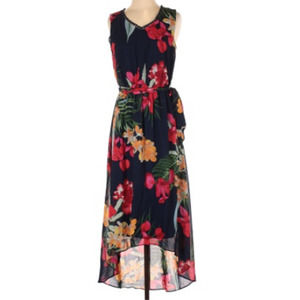 APT 9 Blue Floral High/Low Maxi Dress Size XL